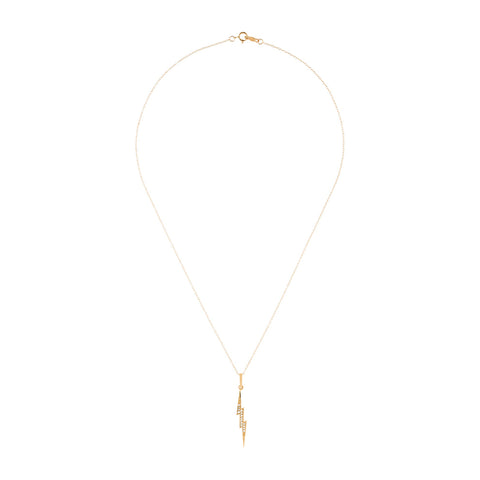 Diamond Lightning Bolt Necklace 14k gold diamond