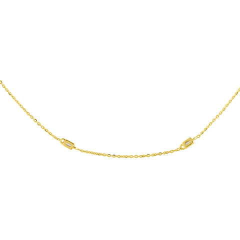 Diamonds by the Yard Baguette Necklace 14k gold diamond