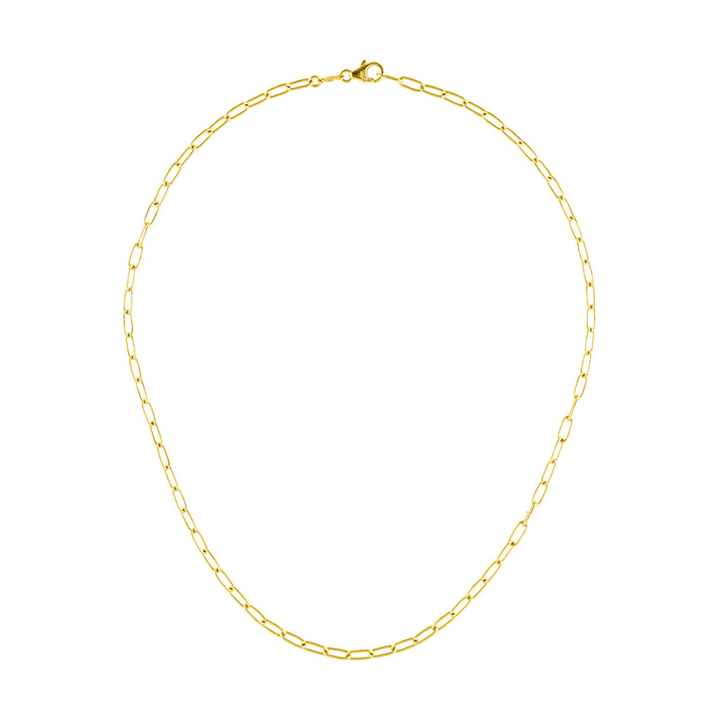 Paper Clip Chain Necklace 14k gold