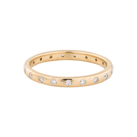 Diamond Dotted Eternity Band Ring 14k gold
