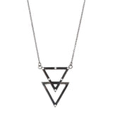 ADORNIA champagne diamond and black rhodium sterling silver Star No. 263 convertible Jewish Star of David necklace
