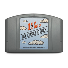 Load image into Gallery viewer, N64 Console Cleaner - Nintendo 64 Cleaning Cartridge by 1UPcard - CastleMania Games