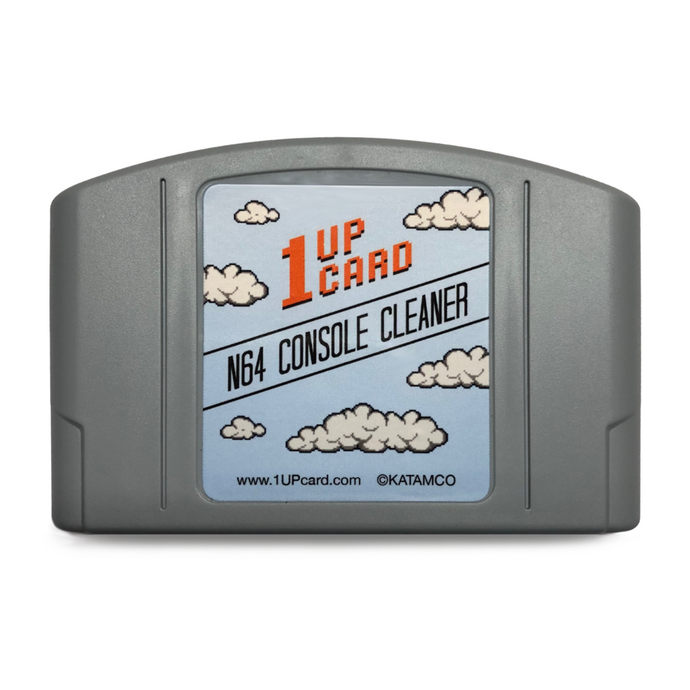 N64 Console Cleaner - Nintendo 64 Cleaning Cartridge by 1UPcard - CastleMania Games