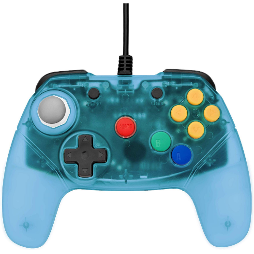 Retro Fighters Brawler64 Controller - Ice Blue - Funtastic Inspired Nintendo 64, Black Friday - CastleMania Games