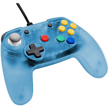 Load image into Gallery viewer, Retro Fighters Brawler64 Controller - Ice Blue Funtastic Inspired Nintendo 64 - CastleMania Games