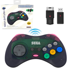 Load image into Gallery viewer, SEGA Saturn® 8-Button Arcade Pad - 2.4 GHz Wireless - Slate Grey - CastleMania Games