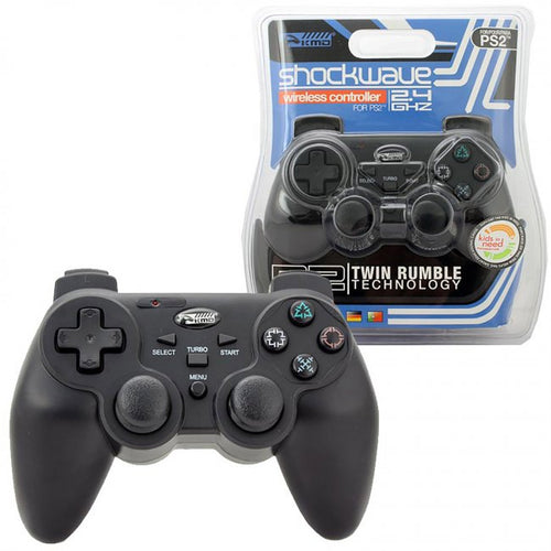 KMD PS2 Wireless Shock-Wave Controller Black