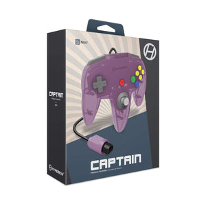 """Captain"" Premium Controller for N64® (Amethyst Purple) - Hyperkin - CastleMania Games"