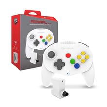 "Load image into Gallery viewer, ""Admiral"" Premium BT Controller for N64® (White) - Hyperkin - CastleMania Games"
