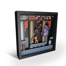 "Load image into Gallery viewer, Pixel Frames – Castlevania: NES Classic 9""x9"" - CastleMania Games"