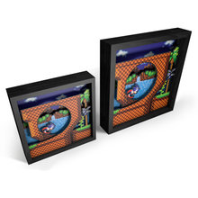 "Load image into Gallery viewer, Pixel Frames – Sonic the Hedgehog: Loop Scene 6""x6"" - CastleMania Games"