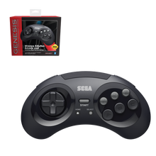 Load image into Gallery viewer, SEGA Genesis 8-Button Arcade Pad ft. Bluetooth Technology - Black - CastleMania Games