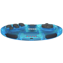 Load image into Gallery viewer, SEGA Genesis 8-Button Arcade Pad ft. Bluetooth Technology - Clear Blue - CastleMania Games