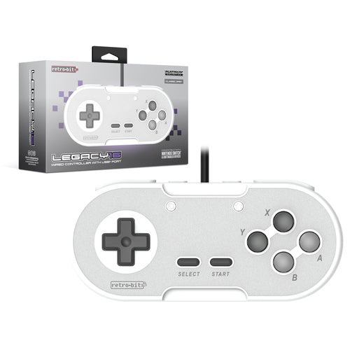Retro-Bit Legacy16 Wired USB Controller - Grey - CastleMania Games