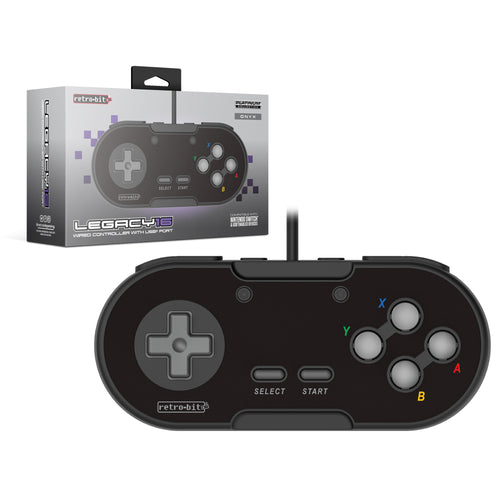 Retro-Bit Legacy16 Wired USB Controller - Black - CastleMania Games