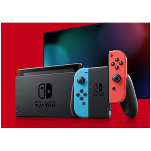 NINTENDO SWITCH CONSOLE WITH NEON BLUE AND NEON RED JOY-CON - CastleMania Games
