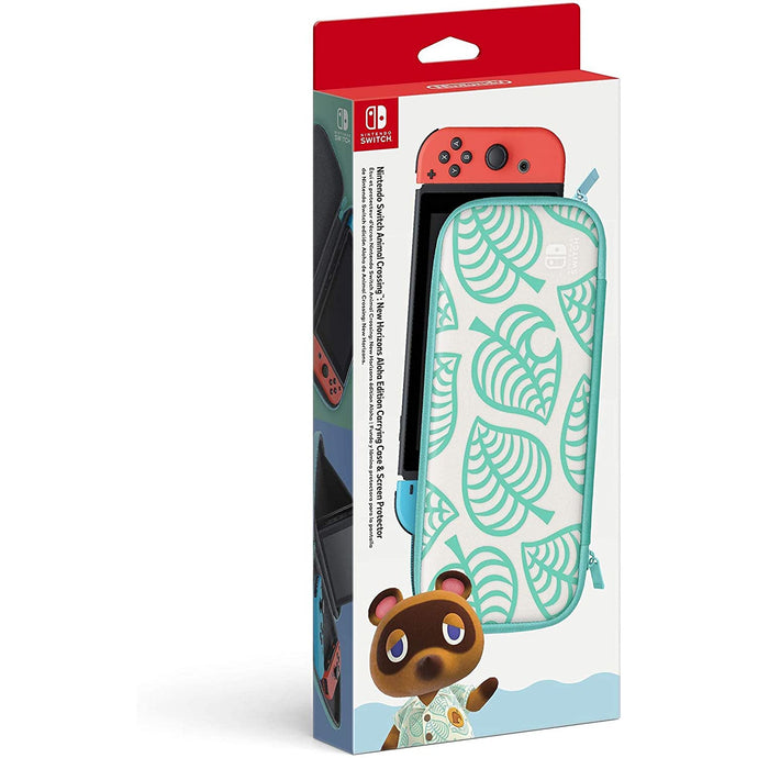 SWITH CARRYING CASE & SCREEN PROTECTOR-ANIMAL CROSSING ALOHA EDITION - Nintendo Switch - CastleMania Games
