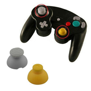 Nintendo GameCube Replacement Analog Cap set both Yellow and Gray Joystick caps - CastleMania Games
