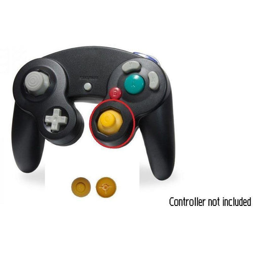 Nintendo GameCube Replacement Analog Cap (Yellow) Right Joystick DGCR-A01-YE - CastleMania Games