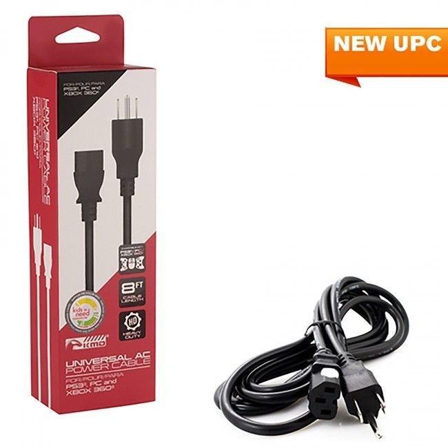 Universal - Cable - AC Power - For PS3/PC/Xbox 360 - 8 FT (KMD) - CastleMania Games