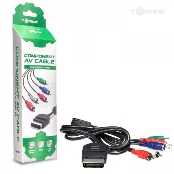 Original Xbox New High Definition HD Component Cable YPbPr TV Hookup A/V Cord - CastleMania Games