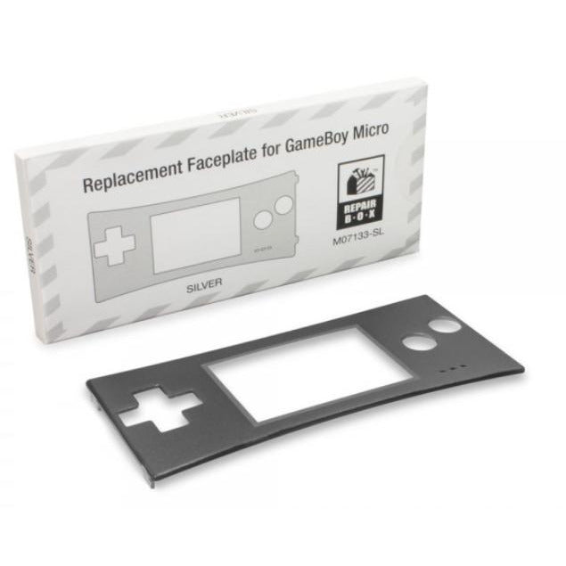 Faceplate For Game Boy® Micro (Silver) - RepairBox - CastleMania Games