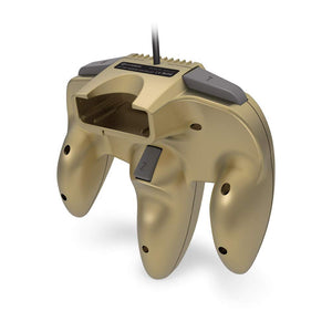 """Captain"" Premium Controller for N64® (Gold) - Hyperkin - CastleMania Games"