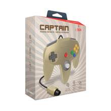 "Load image into Gallery viewer, ""Captain"" Premium Controller for N64® (Gold) - Hyperkin - CastleMania Games"