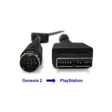 Load image into Gallery viewer, HD Retrovision PS1 adapter for Genesis 2 Cable - SONY PlayStation - CastleMania Games