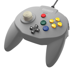 Retro-Bit Tribute64 Controller for the N64 - Grey - CastleMania Games