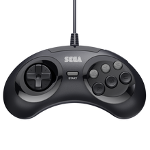 Load image into Gallery viewer, Retro-Bit Official Sega Genesis Controller 6-Button Arcade Pad - Black - CastleMania Games