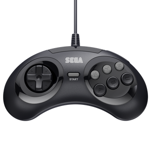 Retro-Bit Official Sega Genesis Controller 6-Button Arcade Pad - Black - CastleMania Games