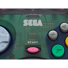 Load image into Gallery viewer, Retro-Bit Official Sega Saturn Controller - Slate Gray (transparent) - CastleMania Games