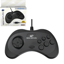 Load image into Gallery viewer, SEGA Saturn USB Control Pad - Black - CastleMania Games