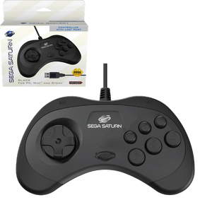 SEGA Saturn USB Control Pad - Black - CastleMania Games