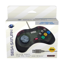 Load image into Gallery viewer, SEGA Saturn USB Control Pad - Slate Grey - CastleMania Games