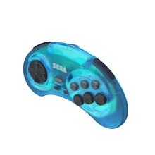 Load image into Gallery viewer, SEGA Genesis 8-Button Arcade Pad - 2.4 GHz Wireless - Clear Blue