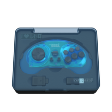 Load image into Gallery viewer, SEGA Genesis 8-Button Arcade Pad - 2.4 GHz Wireless - Clear Blue - CastleMania Games