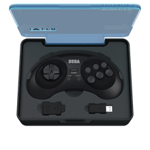Load image into Gallery viewer, SEGA Genesis 8-Button Arcade Pad Black Wireless 2.4 GHz - CastleMania Games