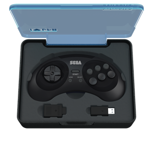 SEGA Genesis 8-Button Arcade Pad Black Wireless 2.4 GHz - CastleMania Games