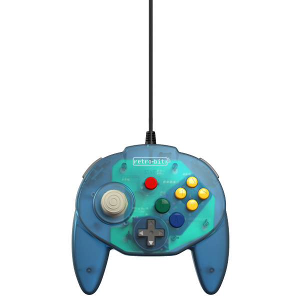 Retro-Bit Tribute64 Controller for the N64 - Ocean Blue