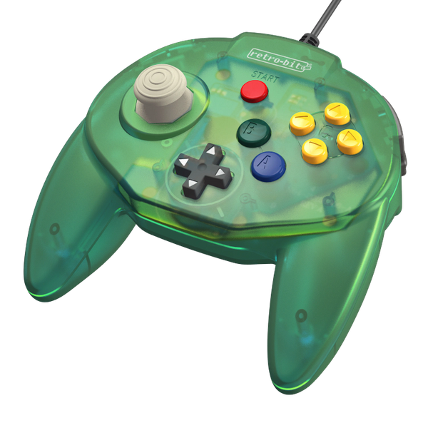 Retro-Bit Tribute64 Controller for the N64 - Forest Green