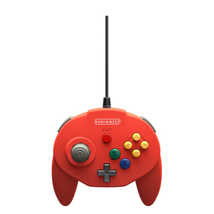 Retro-Bit Tribute64 USB Controller for the Nintendo Switch, PC, Steam - Red - CastleMania Games