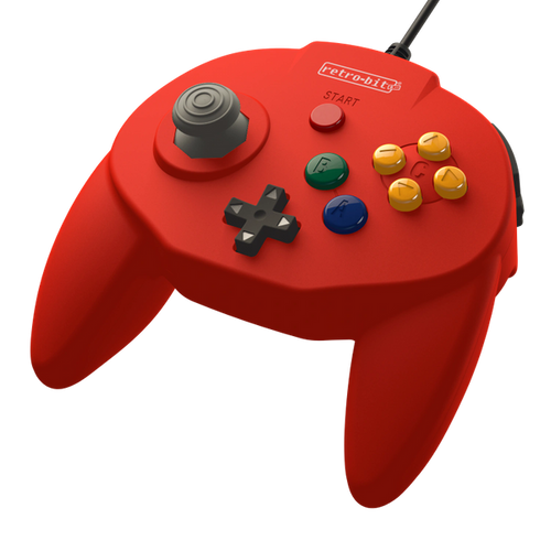 Retro-Bit Tribute64 Controller for the N64 - Red - CastleMania Games
