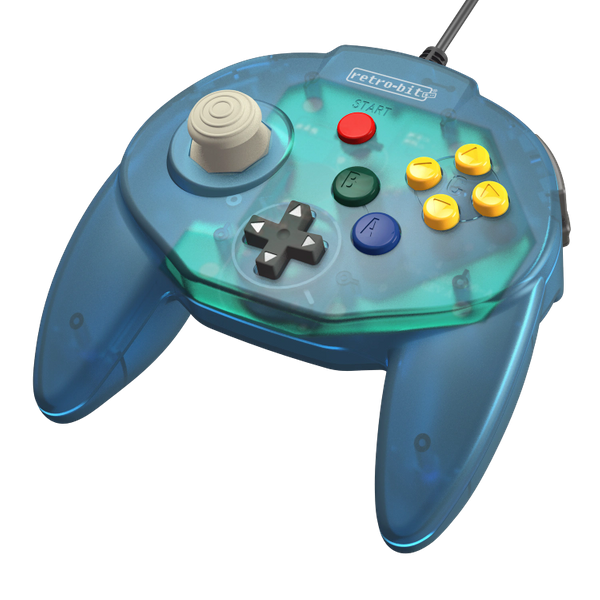 Retro-Bit Tribute64 Controller for the N64 - Ocean Blue - CastleMania Games
