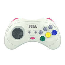 Load image into Gallery viewer, SEGA Saturn® 8-Button Arcade Pad - 2.4 GHz Wireless - White - CastleMania Games