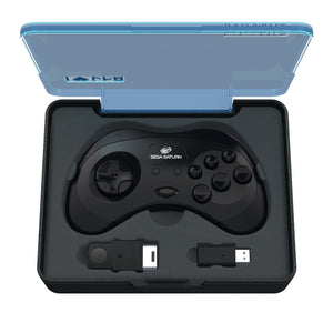 SEGA Saturn® 8-Button Arcade Pad - 2.4 GHz Wireless - Black - CastleMania Games