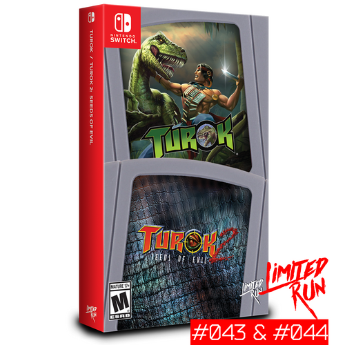 Limited Run #43 & #44:  Turok / Turok 2: Seeds of Evil (Switch) - CastleMania Games