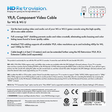 Load image into Gallery viewer, HD RETROVISION Wii YPbPr Component Cable for the Nintendo Wii - CastleMania Games