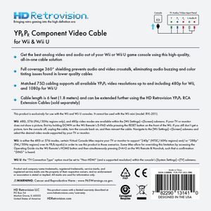 HD RETROVISION Wii YPbPr Component Cable for the Nintendo Wii - CastleMania Games